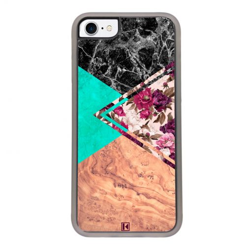 Coque iPhone 7 / 8 – Floral marble