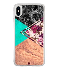 Coque iPhone Xs Max – Floral marble
