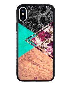 theklips-coque-iphone-x-iphone-xs-rubber-noir-floral-marble
