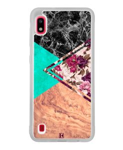 Coque Galaxy A10 – Floral marble