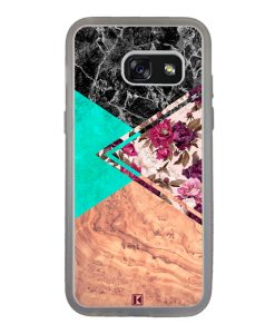 Coque Galaxy A3 2017 – Floral marble
