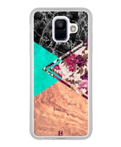 Coque Galaxy A6 2018 – Floral marble