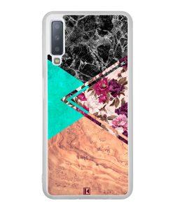Coque Galaxy A7 2018 – Floral marble