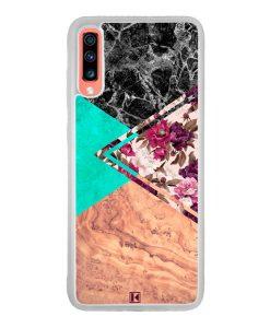 Coque Galaxy A70 – Floral marble