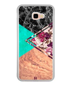 Coque Galaxy J4 Plus – Floral marble
