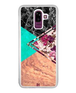 Coque Galaxy J8 2018 – Floral marble