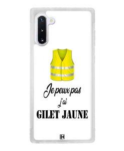 Coque Galaxy Note 10 – Je peux pas j'ai Gilet jaune