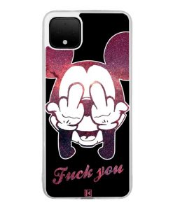 Coque Google Pixel 4 XL – Mickey Fuck You