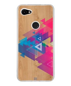 Coque Google Pixel 3A XL – Multi triangle on wood