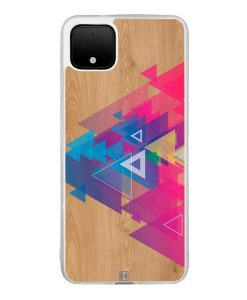 Coque Google Pixel 4 XL – Multi triangle on wood