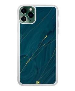 Coque iPhone 11 Pro Max – Dark blue marble