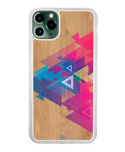 Coque iPhone 11 Pro Max – Multi triangle on wood