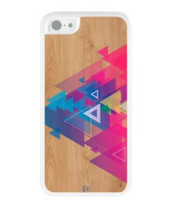 Coque iPhone 5c – Multi triangle on wood