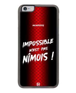Coque iPhone 6 Plus / 6s Plus – Impossible n'est pas Nîmois