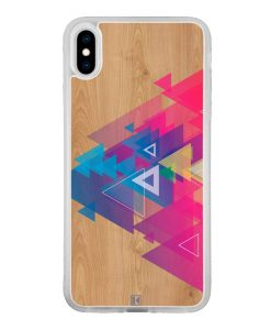 Coque iPhone Xs Max – Multi triangle on wood