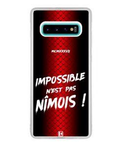 Coque Galaxy S10 Plus – Impossible n'est pas Nîmois