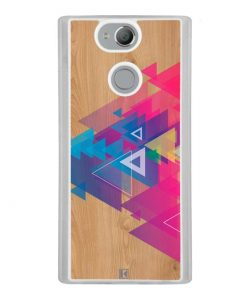 Coque Xperia XA2 – Multi triangle on wood