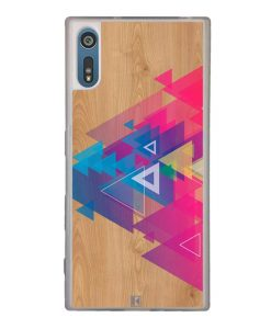 Coque Xperia XZ – Multi triangle on wood