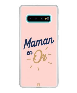 Coque Galaxy S10 Plus – Maman en Or