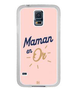 Coque Galaxy S5 – Maman en Or