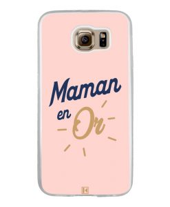 Coque Galaxy S6 – Maman en Or