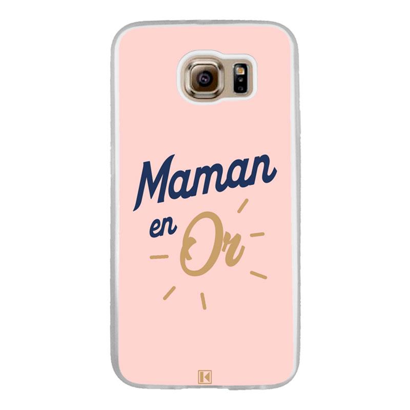 Coque Galaxy S6 Edge – Maman en Or