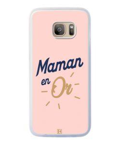 Coque Galaxy S7 Edge – Maman en Or