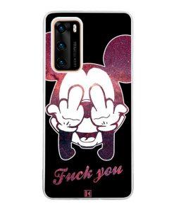 Coque Huawei P40  – Mickey Fuck You