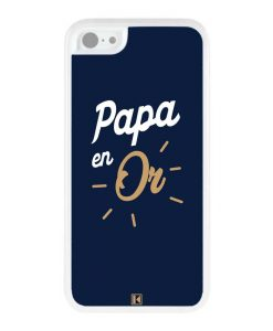 Coque iPhone 5c – Papa en Or