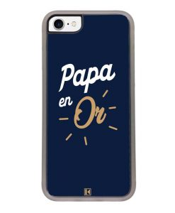 Coque iPhone SE (2020) – Papa en Or