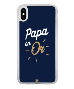 Coque iPhone Xs Max – Papa en Or