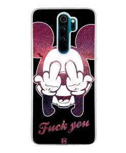 Coque Xiaomi Redmi Note 8 Pro – Mickey Fuck You