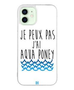 Coque iPhone 12 / 12 Pro – Je peux pas j'ai aqua poney