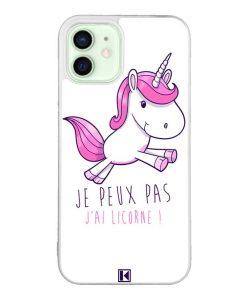 Coque iPhone 12 / 12 Pro – Je peux pas j'ai Licorne