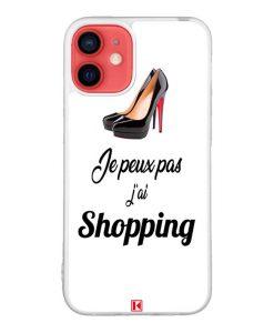 Coque iPhone 12 Mini – Je peux pas j'ai Shopping