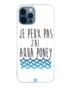 Coque iPhone 12 Pro Max – Je peux pas j'ai aqua poney