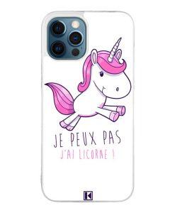 Coque iPhone 12 Pro Max – Je peux pas j'ai Licorne