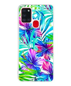 Coque Galaxy A21s – Exotic flowers