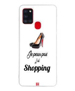 Coque Galaxy A21s – Je peux pas j'ai Shopping