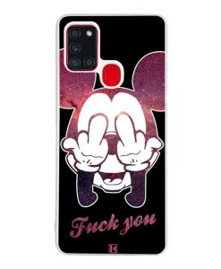 Coque Galaxy A21s – Mickey Fuck You