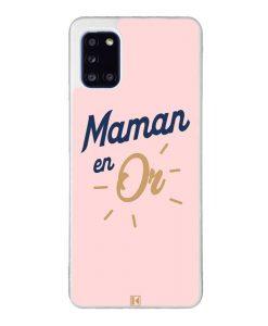 Coque Galaxy A31 – Maman en Or